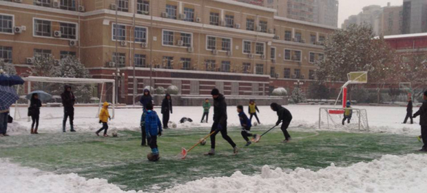 ClubFootball in the snow